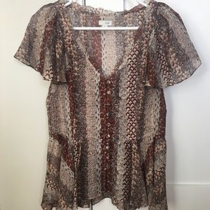 Anthropologie odille silk blouse